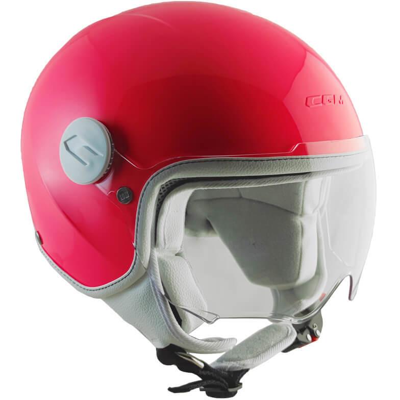 Casque moto enfant CGM 205s MAGIC SMILE Visière profilée rose fluo