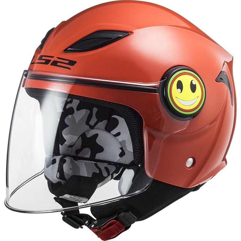 Casque Moto Enfant Jet Ls2 OF602 FUNNY Solid Red