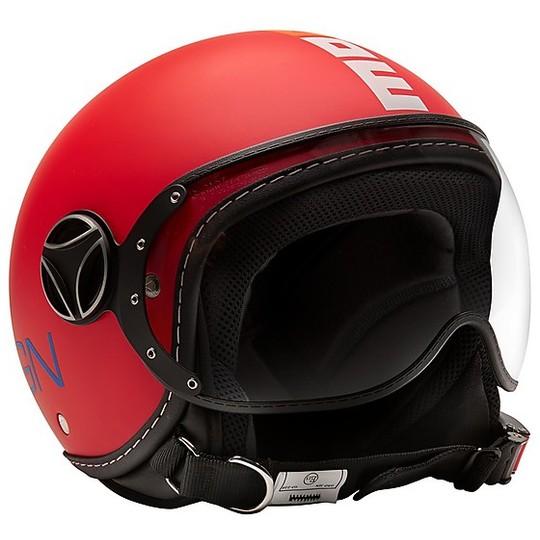 Casque moto enfant Jet Momo Design FGTR BABY Matt Red Multicolor
