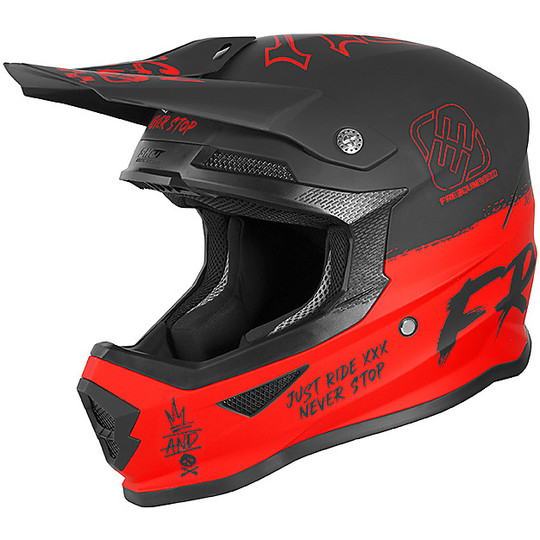 Casque Moto Freegun XP4 SPEED Cross Enduro Rouge Mat
