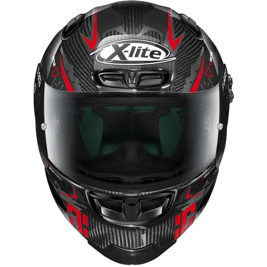 Casque Moto Full Carbon X-Lite X-803 RS Ultra Carbon DARKO 037 Rouge
