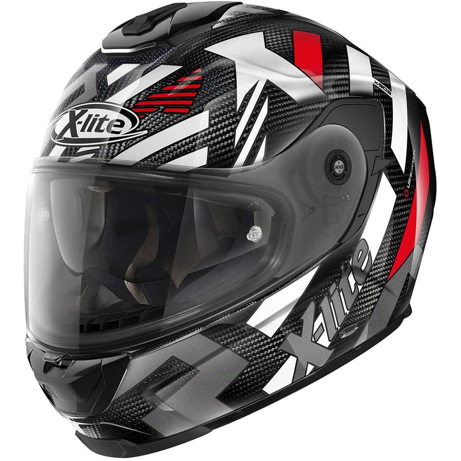Casque Moto Full Carbon X-Lite X-903 Ultra Carbon CREEK N-Com 035 Rouge