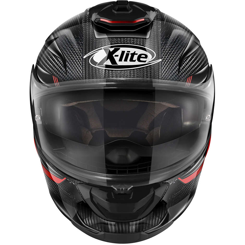 Casque Moto Full Carbon X-Lite X-903 Ultra Carbon ELEKTRA N-Com 040 Rouge