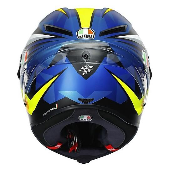 Casque moto intégral AGV CORSA R Replica MIR 2019 Bleu Jaune