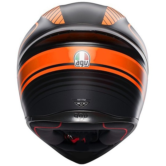 Casque moto intégral AGV K-1 Multi WARMUP Noir Orange