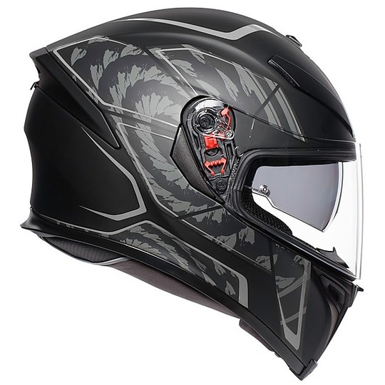 Casque Moto Intégral AGV K5 S Multi TORNADO Noir Argent Mat