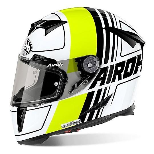 Casque moto intégral Airoh GP 500 Scrape Glossy Yellow