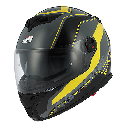 Casque Moto Intégral Astone Gt 800 Double Visor Wire Black Yellow