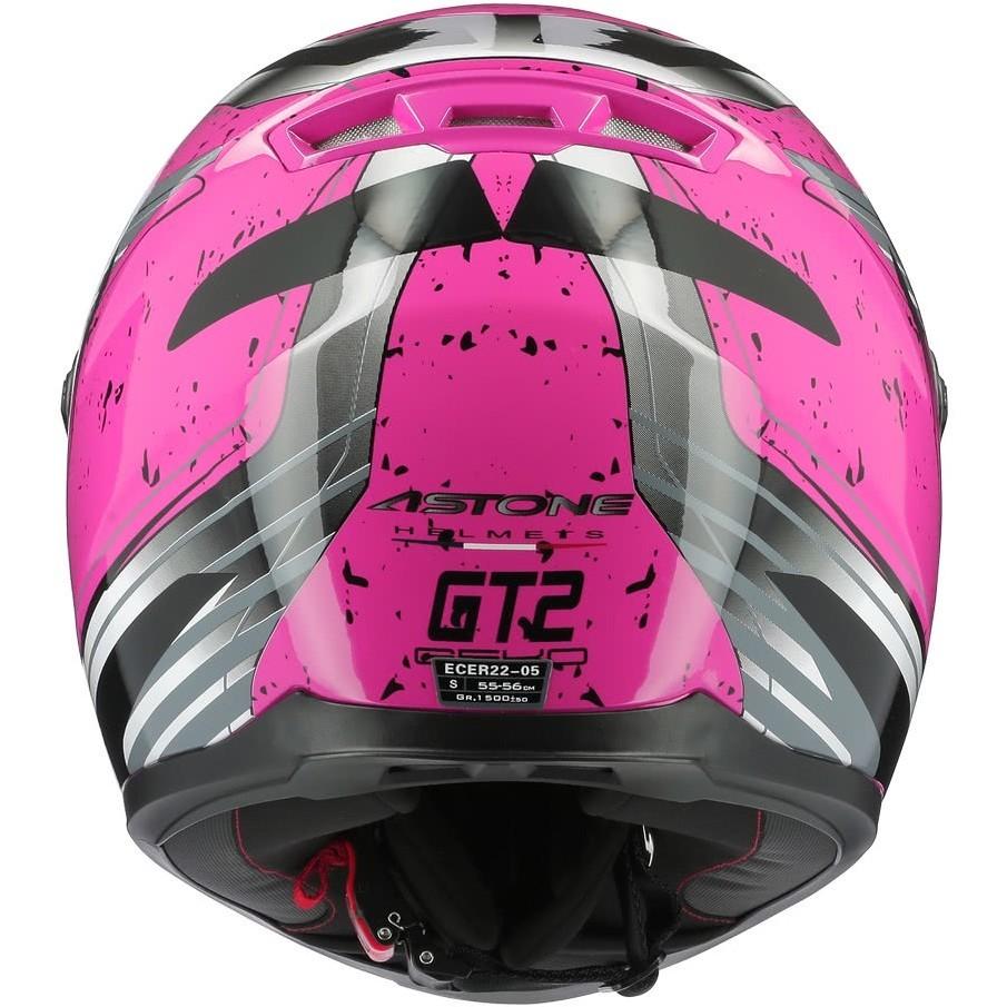 Casque moto intégral Astone GT2 GEKO Glossy Pink