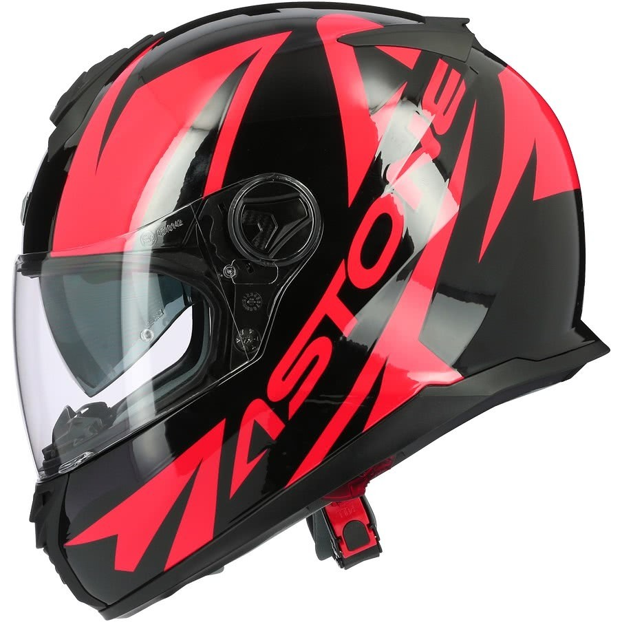 Casque moto intégral Astone GT800 Evo SKYLINE Glossy Red