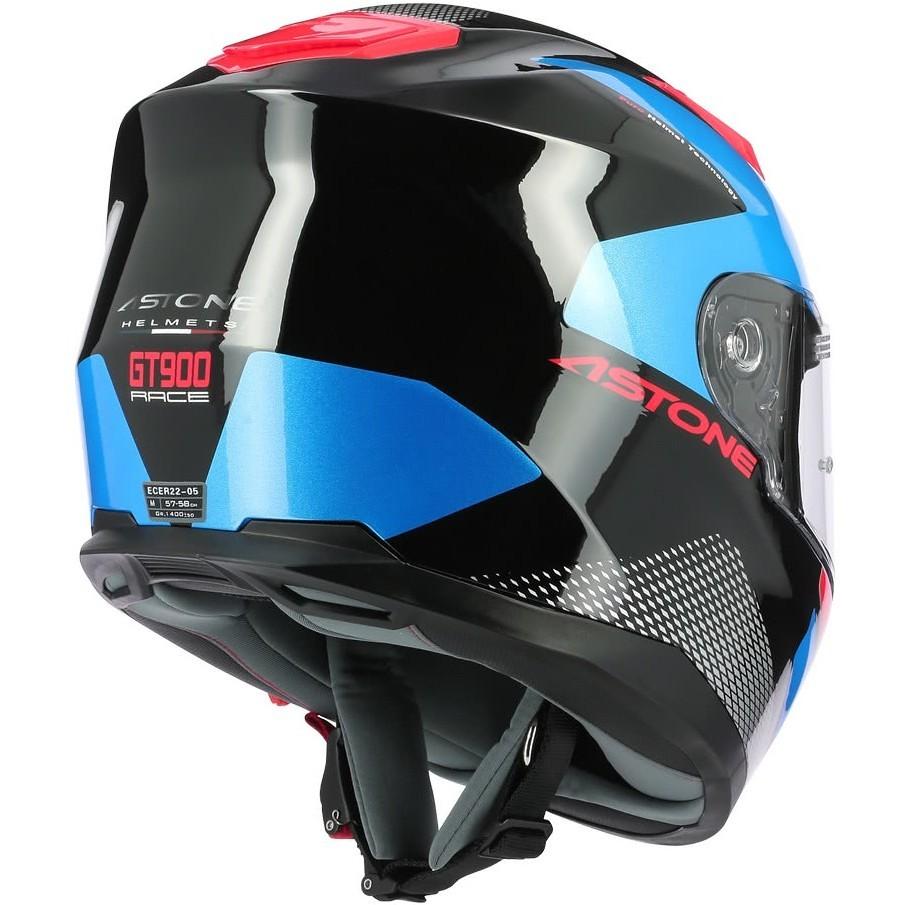 Casque Moto Intégral Astone GT900 RACE Bleu Noir Chrome