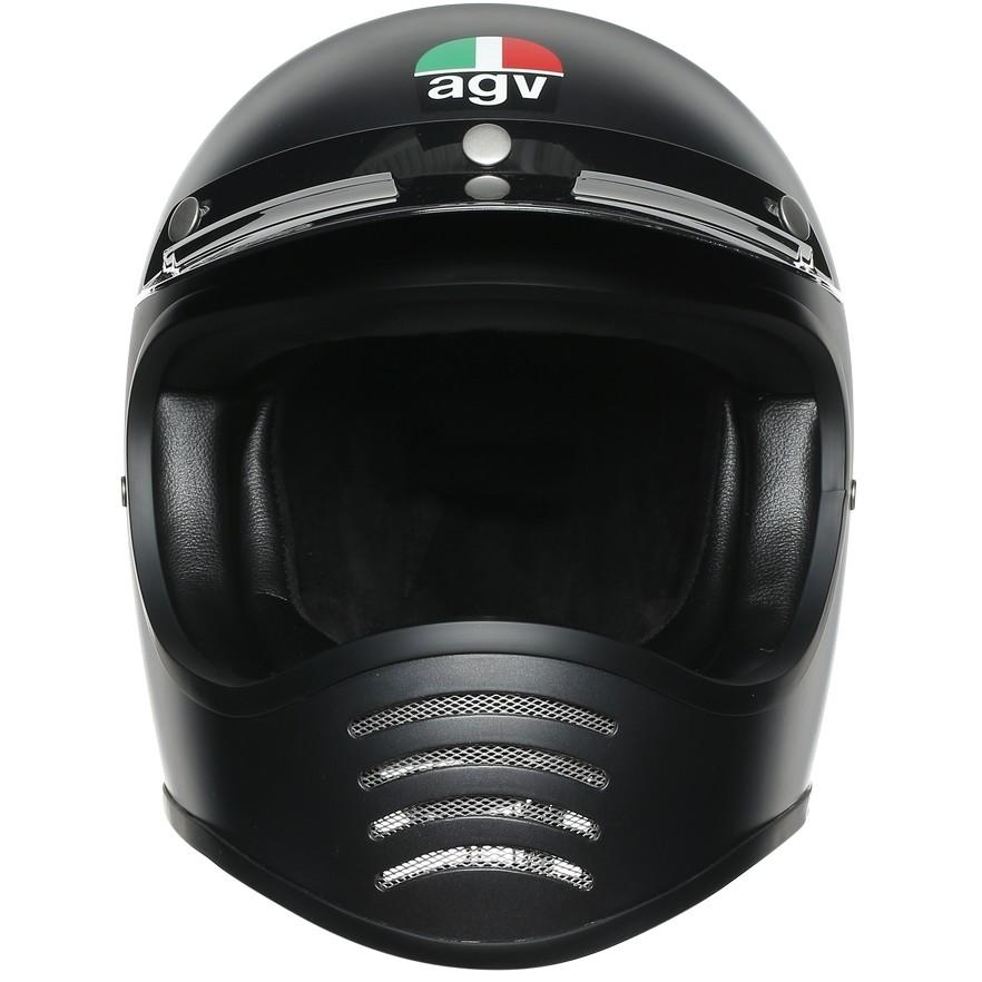 Casque Moto Intégral Custom AGV Legend X101 Mono Matt Black
