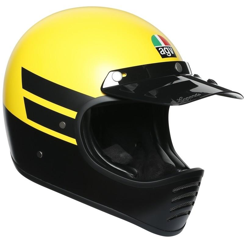 Casque Moto Intégral Custom AGV Legend X101 Multi DUST Matt Yellow Noir