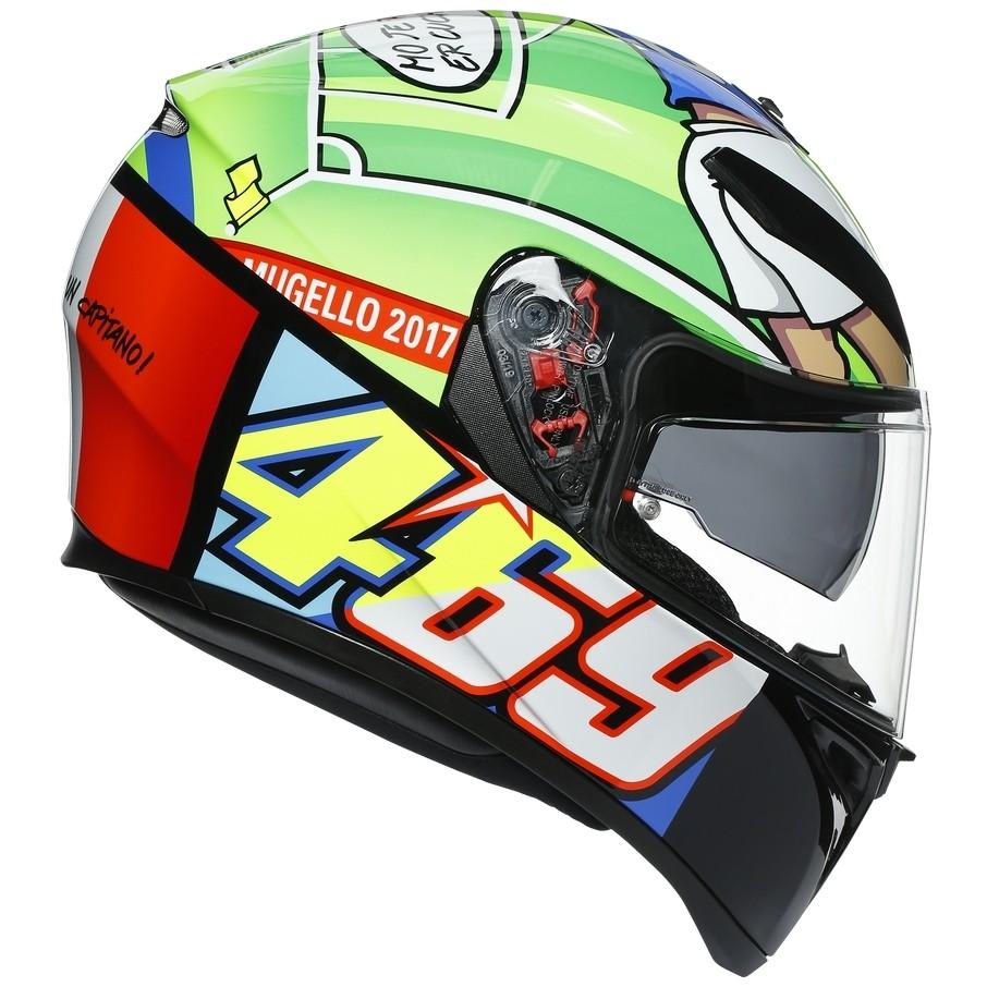 Casque moto intégral double visière Agv K3 SV Top ROSSI MUGELLO 2017