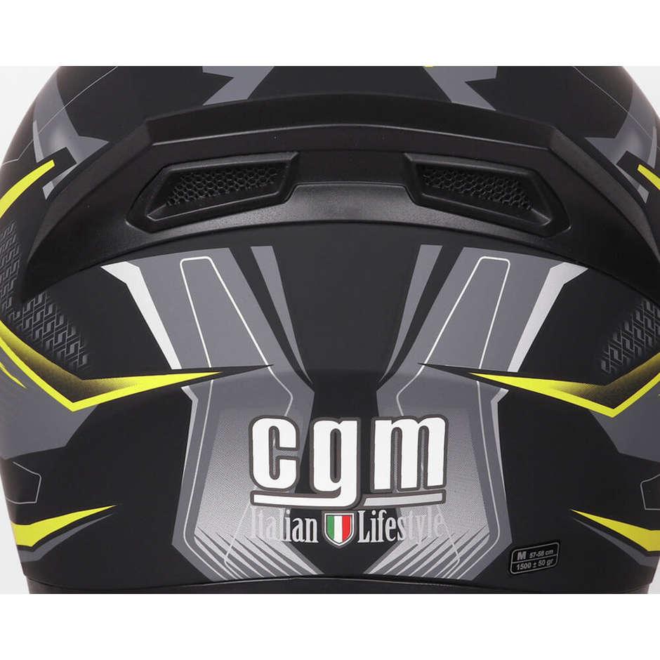 Casque Moto Intégral Double Visière CGM 316G TAMPERE MACH 2 Noir Jaune Fluo