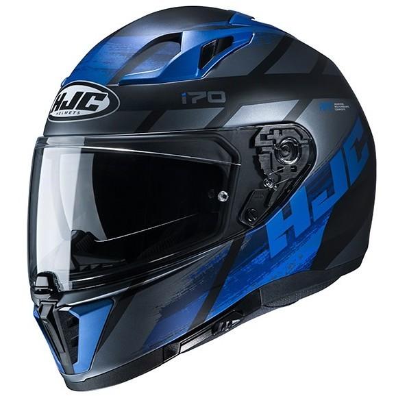Casque Moto Intégral Double Visière HJC i70 REDEN MC5 Noir Bleu