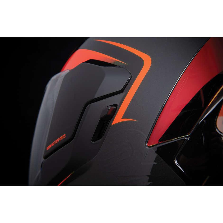 Casque Moto Intégral Double Visière Icon AIRFLITE Crosslink Rouge