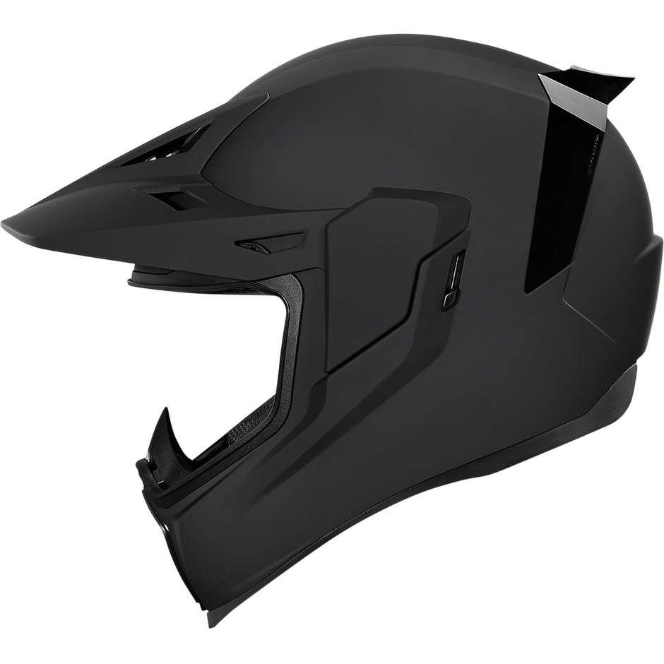 Casque Moto Intégral Double Visière Icon AIRFLITE Moto Noir Mat