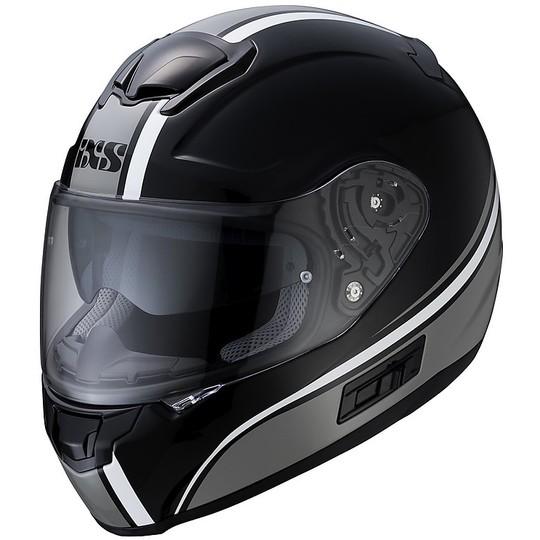 Casque Moto Intégral Double Visière Ixs 215 2.1 Noir Gris Blanc
