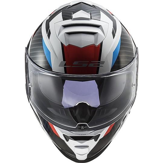 Casque Moto Intégral Double Visière Ls2 FF800 STORM Racer Bleu Rouge