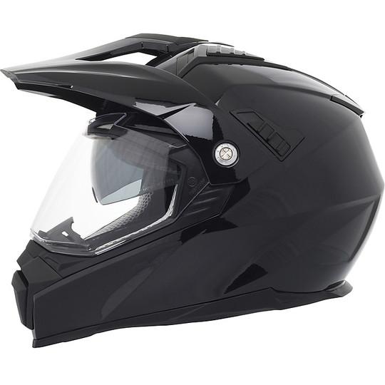 Casque Moto Intégral Double Visière Touring Stormer TRAVELLER Noir