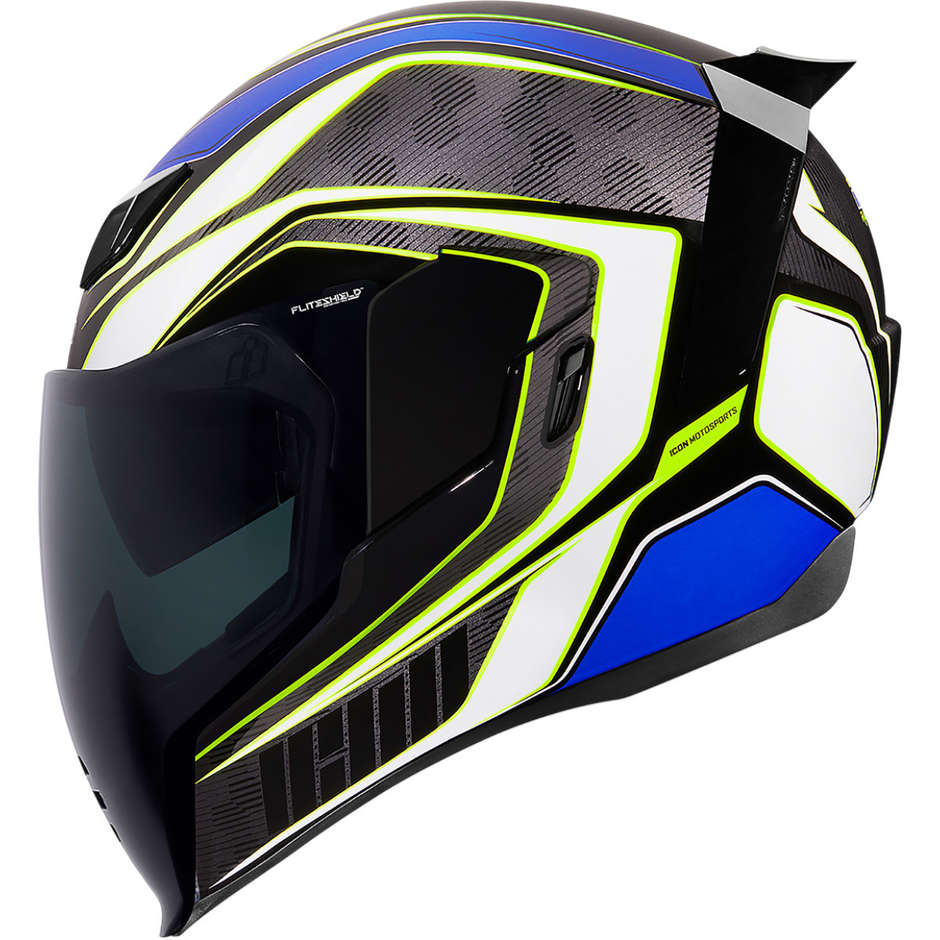 Casque Moto Intégral Double Visor Icon AIRFLITE Raceflit Bleu