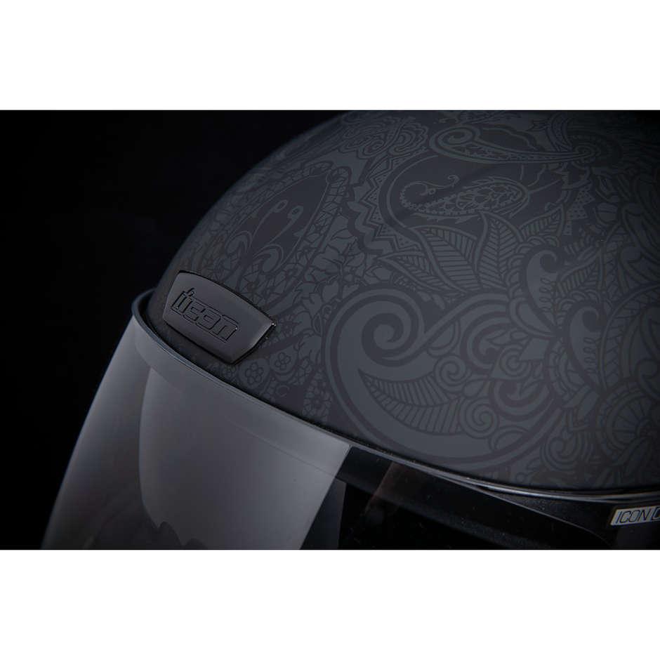 Casque Moto Intégral Double Visor Icon AIRFORM Chantilly Noir