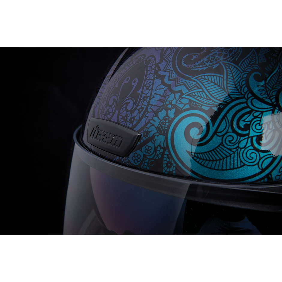 Casque Moto Intégral Double Visor Icon AIRFORM Chantilly Opal Blue