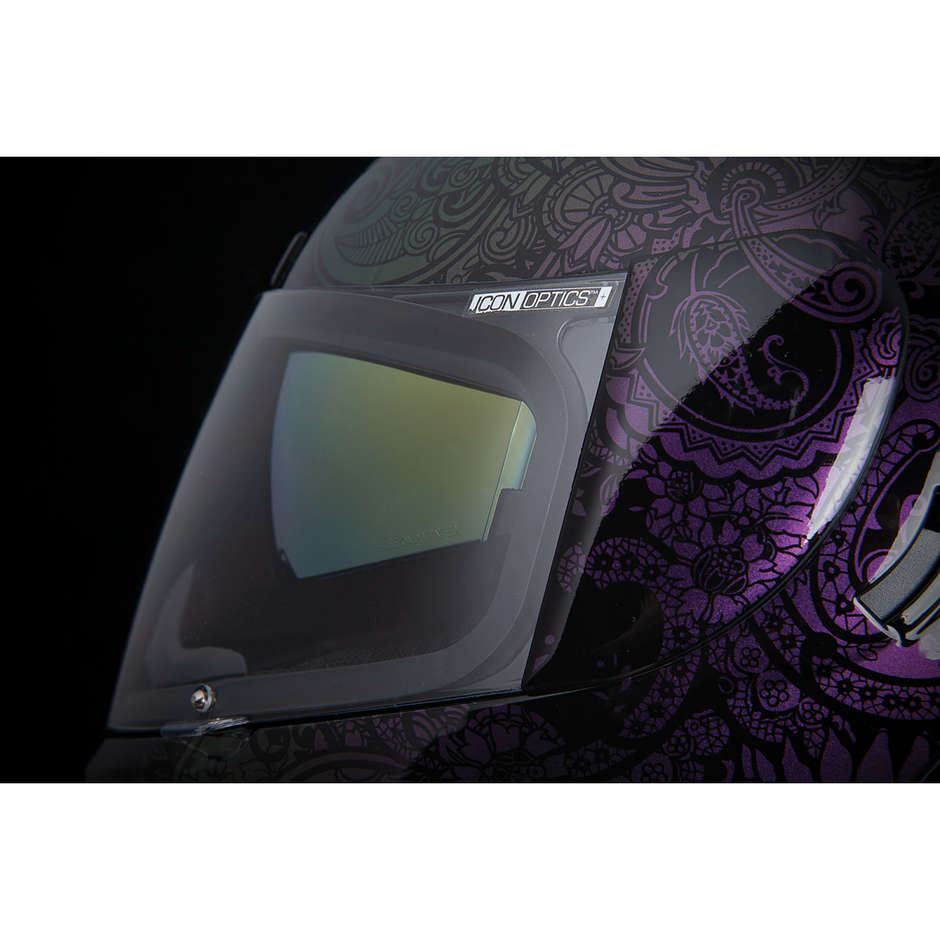 Casque Moto Intégral Double Visor Icon AIRFORM Chantilly Opal Purple