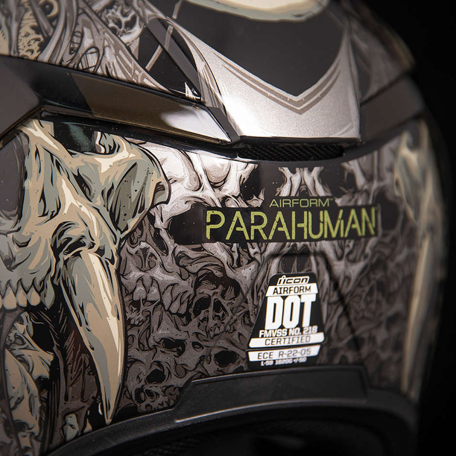 Casque Moto Intégral Double Visor Icon AIRFORM Parahuman Noir