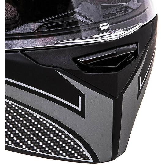 Casque moto intégral Double Visor Scotland Force 04.1 Black Grey