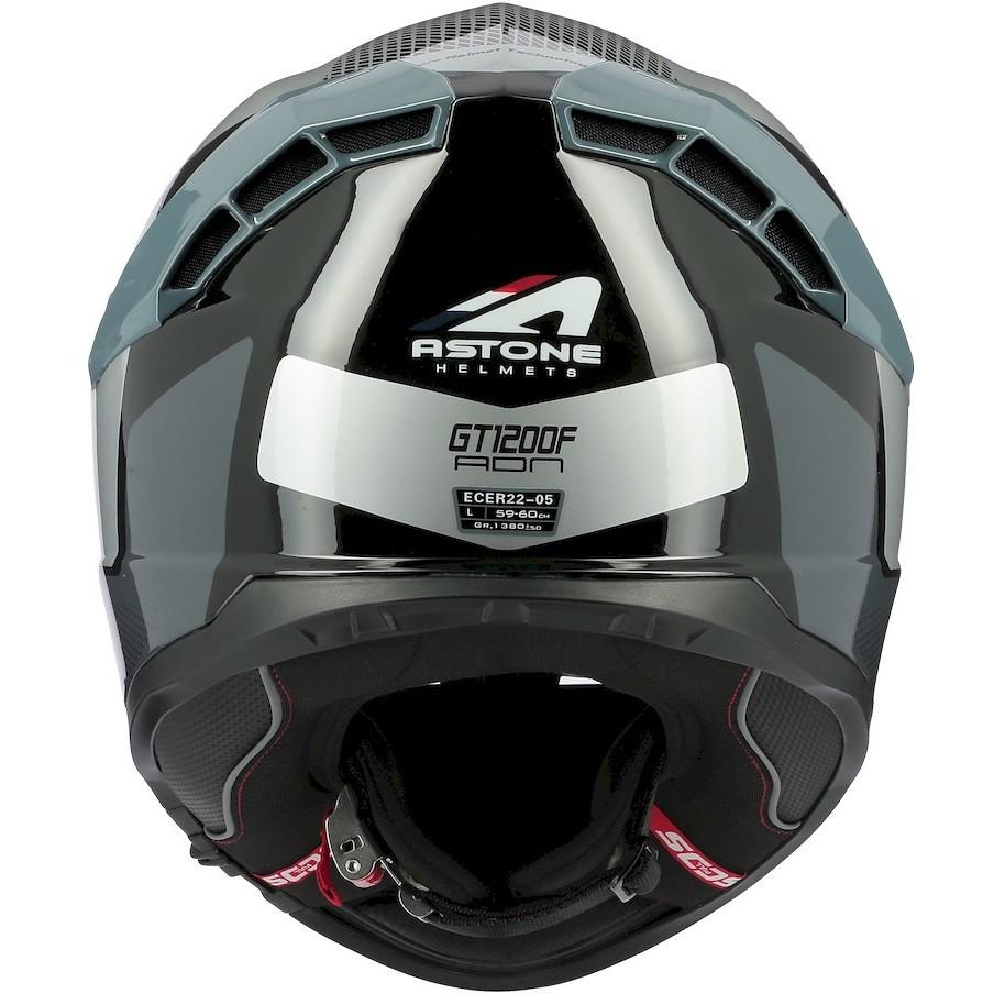 Casque moto intégral en Astone GT1200 F ADN Grey Silver Fiber