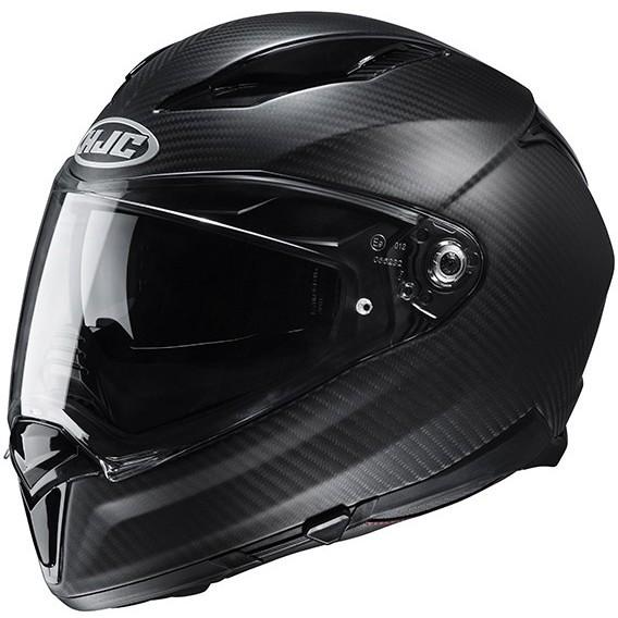 Casque Moto Intégral En Carbone HJC F70 Carbone Semi Plat Noir Mat