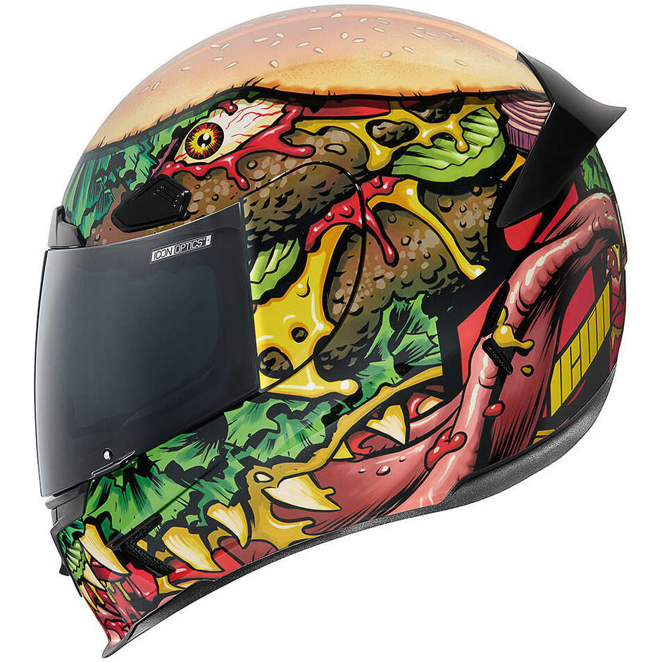 Casque moto intégral en fibre Icon AIRFRAME PRO FastFood