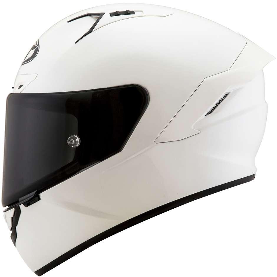Casque Moto Intégral En Fibre KYT NX RACE PLAIN Blanc