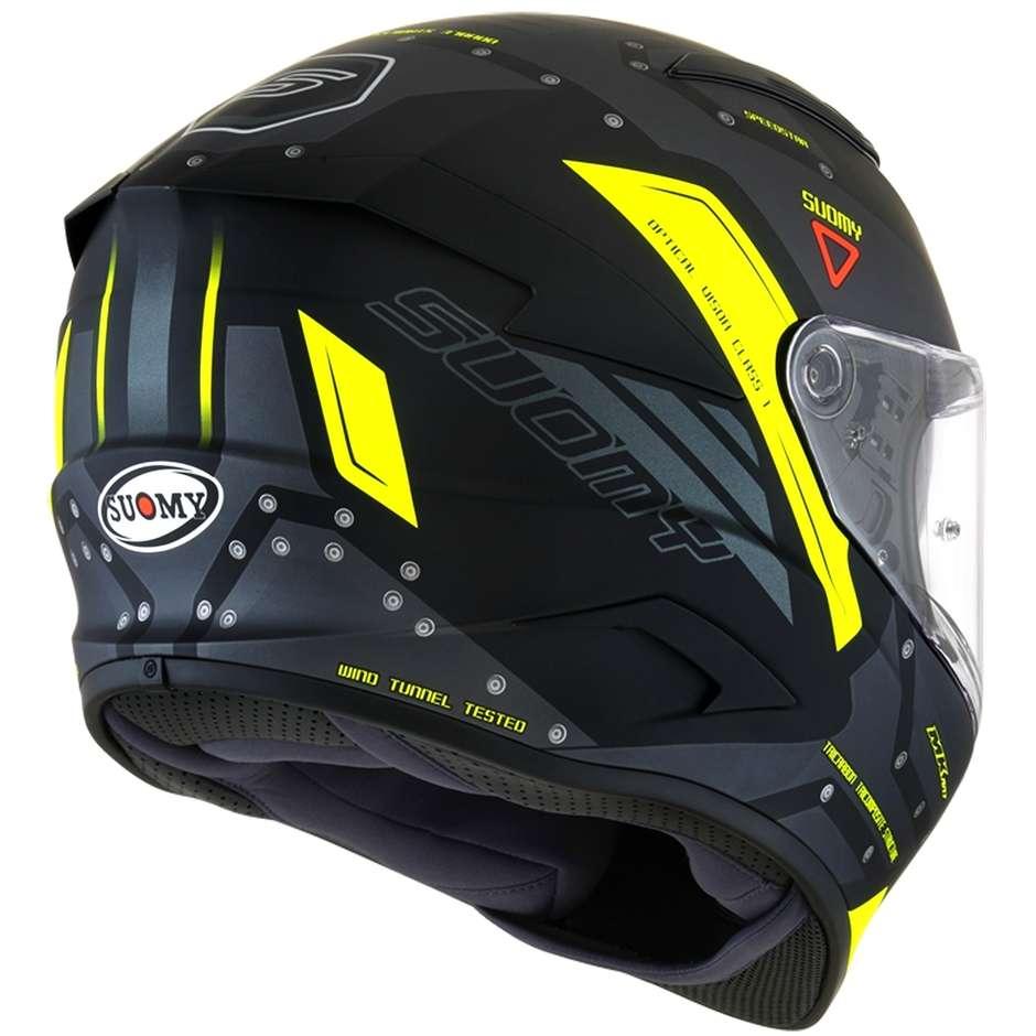 Casque moto intégral en fibre Suomy SPEEDSTAR AIRPLANE Matt Grey Yellow