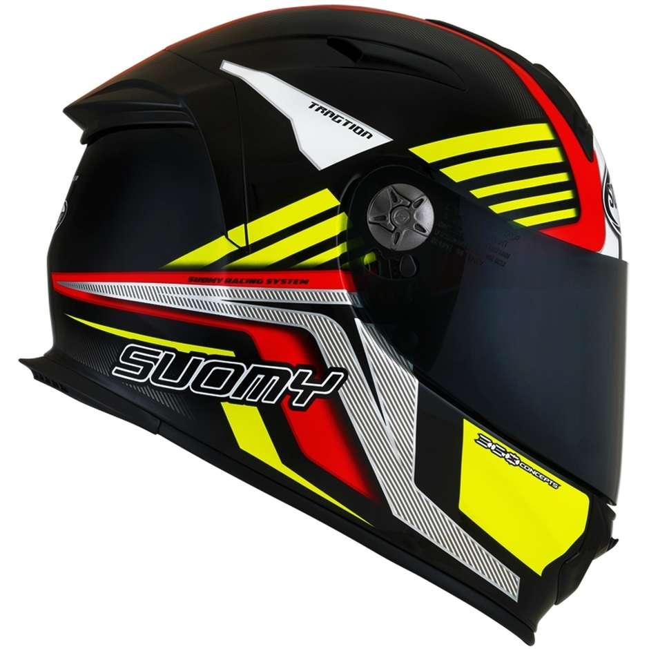 Casque moto intégral en fibre Suomy SR-SPORT ATTRACTION Rouge Jaune