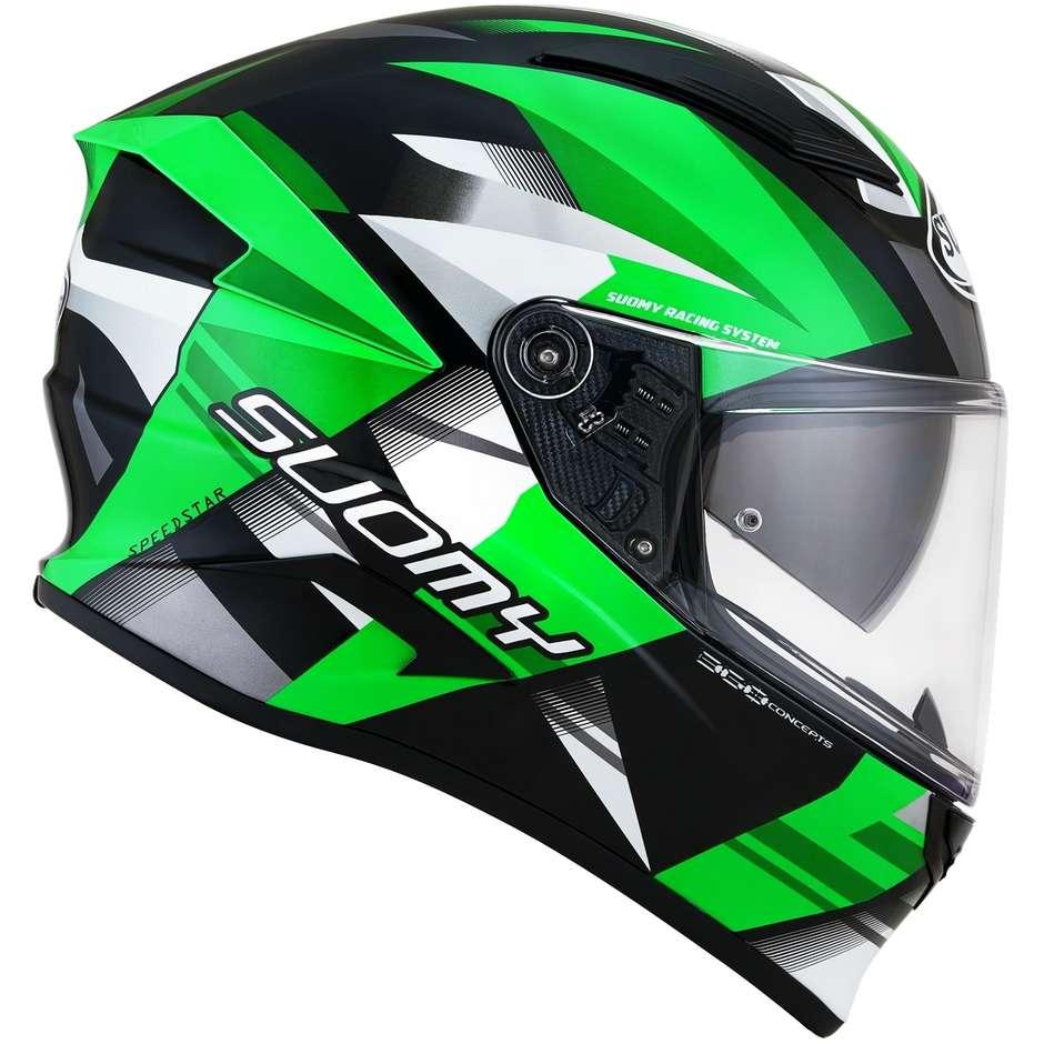 Casque moto intégral en fibre verte Suomy SPEEDSTAR RAPID