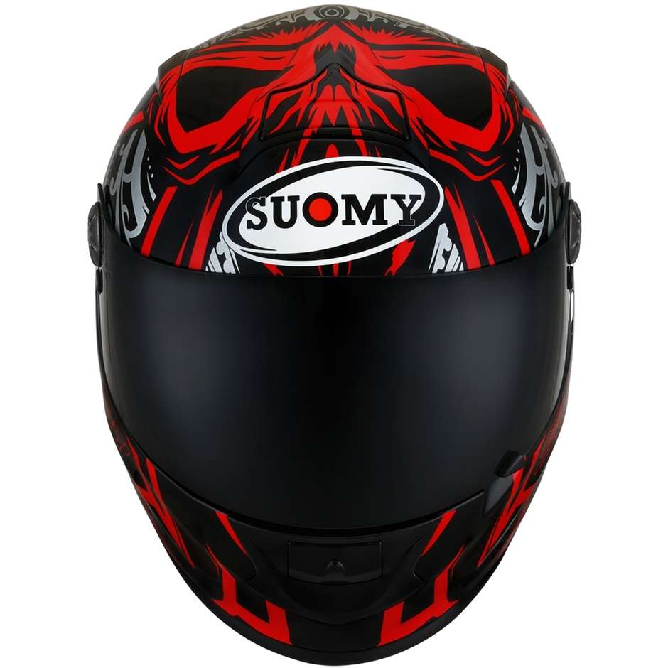 Casque moto intégral en Suomy Fiber SR-SPORT CROSSBONES Rouge