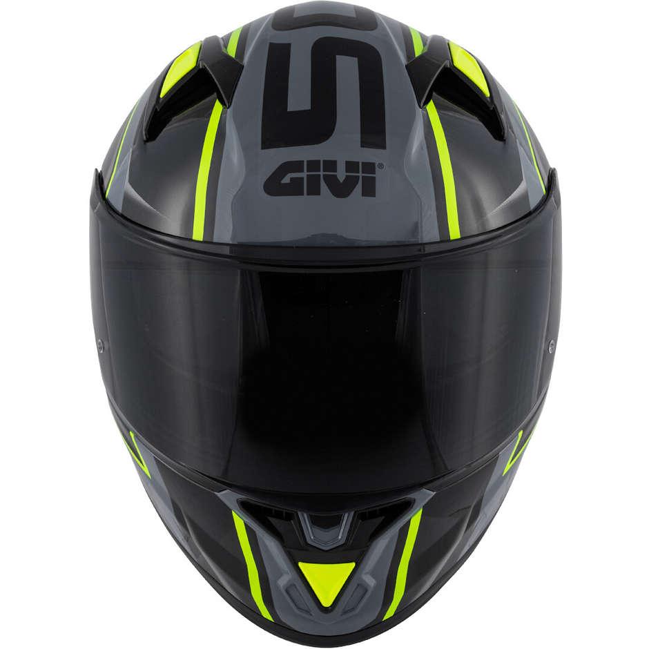 Casque Moto Intégral Givi 50.6 Stuttgart Blades Noir Gris Jaune Fluo