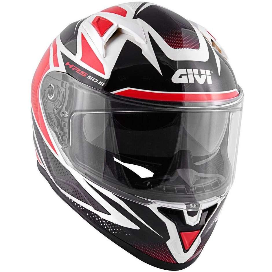 Casque Moto Intégral Givi 50.6 Stuttgart Follow Noir Blanc Rouge