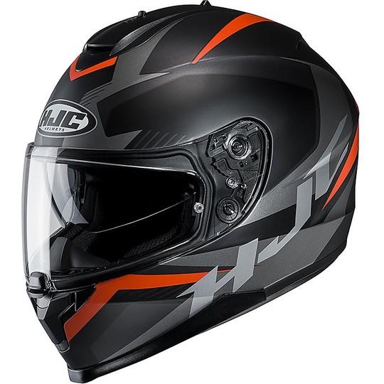Casque Moto Intégral HJC C70 Double Visor Troky MC7SF Noir Orange