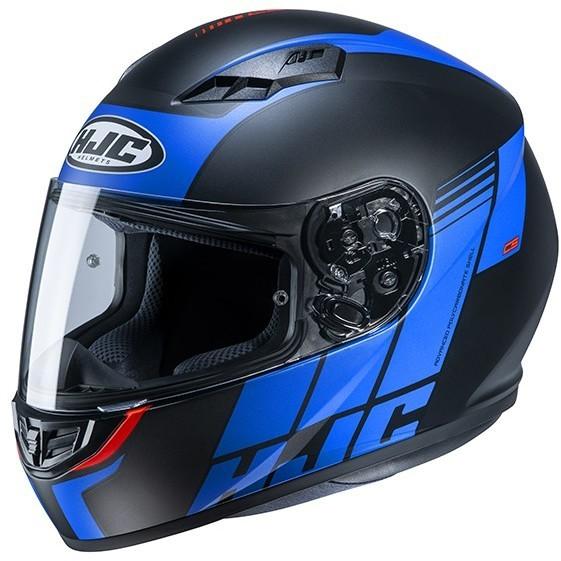 Casque Moto Intégral HJC CS-15 MYLO MC2SF Noir Bleu Mat