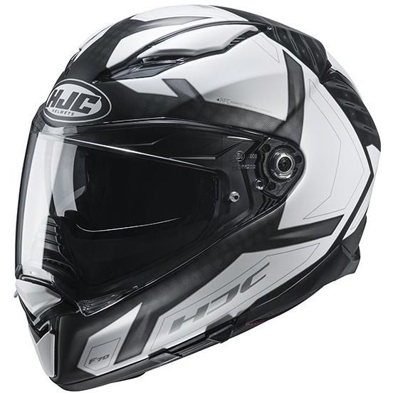 Casque Moto Intégral HJC F70 DEVER MC5SF Noir Mat Blanc