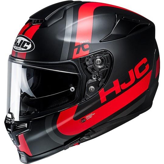 Casque moto intégral Hjc RPHA 70 double visière Gaon MC1SF noir rouge