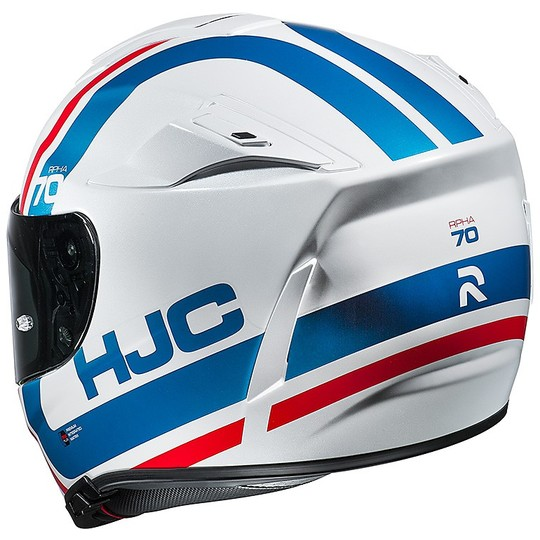 Casque moto intégral Hjc RPHA 70 double visière Gaon MC21 blanc bleu