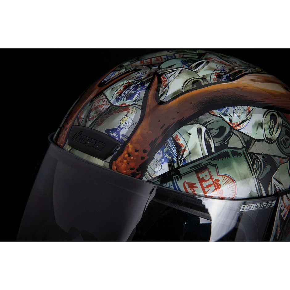 Casque Moto Intégral Icône Double Visière AIRFORM Buck Fever