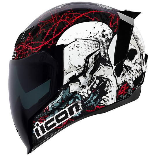 Casque moto intégral Icon AIRFLITE Skull 18 Noir