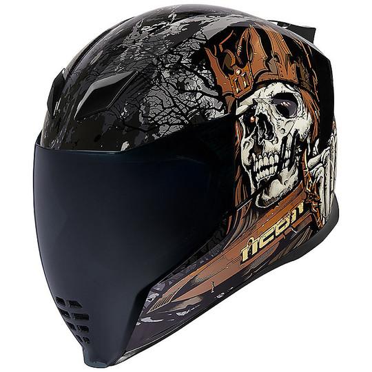 Casque moto intégral Icon AIRFLITE Uncle Dave Black