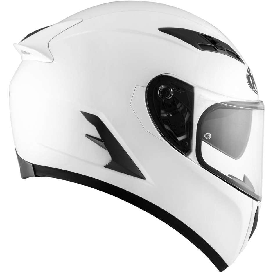 Casque moto intégral KYT FALCON 2 PLAIN PEARL Blanc